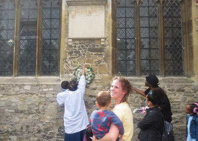 Celebrating Equiano's family at St Andrews Church, Chesterton, Cambridgeshire
