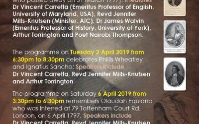 Celebrating Oludah Equiano, Phillis Wheatley & Ignatius Sancho